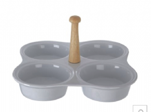 Porcelain Snack/Dip Dish (4 Bowl) | Buy Online at The Asian Cookshop.